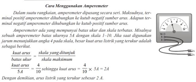 cara menggunakan amper meter